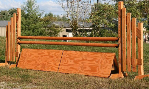 natural finish horse jump coop with Dapple Equine durable horse jump cups